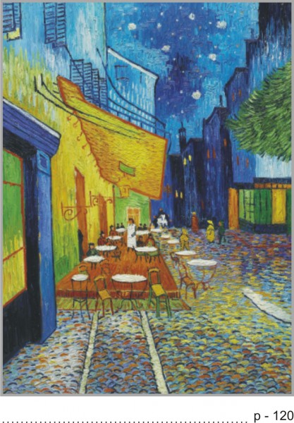 vincent van gogh cafe terrace at night Analysis of the night cafe - vincent van gogh by: the other van gogh café painting, café terrace at night, shows the exterior of a café which still stands.
